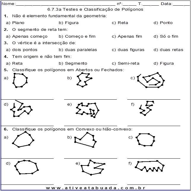 Atividade 6.7.3a Testes e Classificação de Polígonos