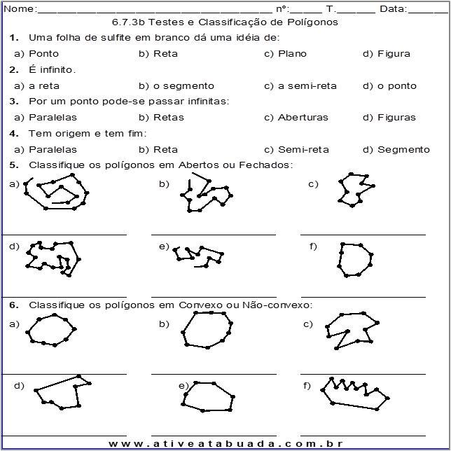 Atividade 6.7.3b Testes e Classificação de Polígonos