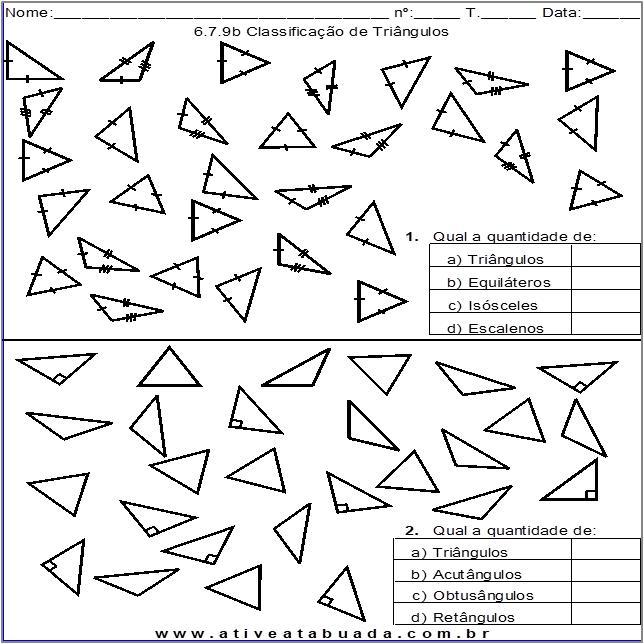 Atividade 6.7.9b Classificação de Triângulos