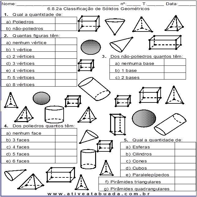 Atividade 6.8.2a Classificação de Sólidos Geométricos