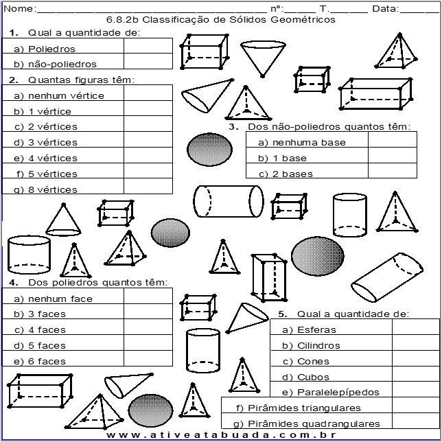 Atividade 6.8.2b Classificação de Sólidos Geométricos