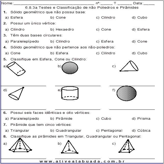 Atividade 6.8.3a Testes e Classificação de não Poliedros e Pirâmides