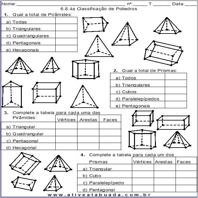 Atividade 6.8.4a Classificação de Poliedros