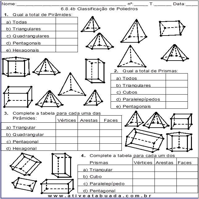 Atividade 6.8.4b Classificação de Poliedros