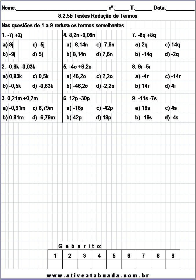 Atividade 8.2.5b Testes Redução de Termos