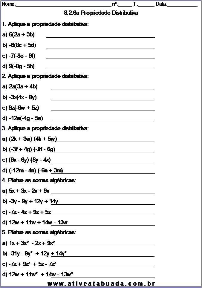 Atividade 8.2.6a Propriedade Distributiva