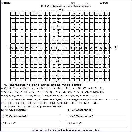 Atividade 8.4.2a Coordenadas Cartesianas