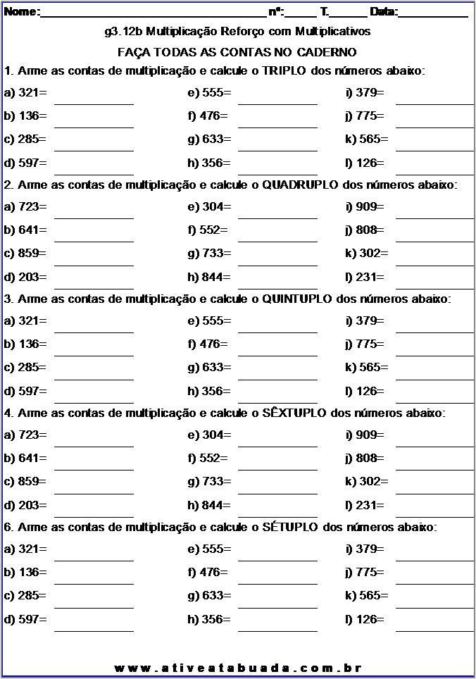 Atividade g3.12b Multiplicação Reforço com Multiplicativos