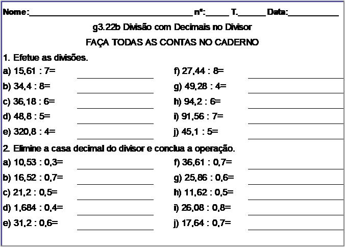 Atividade g3.22b Divisão com Decimais no Divisor