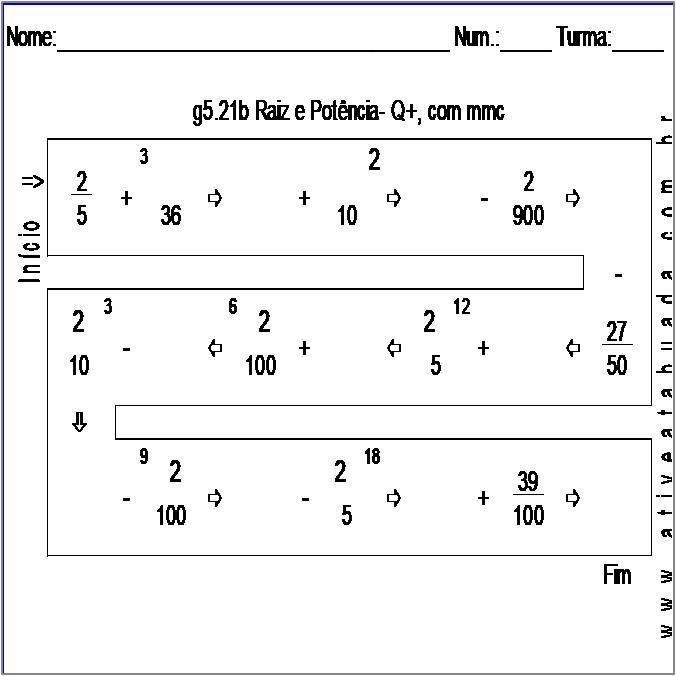 Atividade g5.21b Raiz e Potência- Q+, com mmc