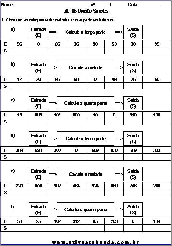 Atividade g8.10b Divisão Simples