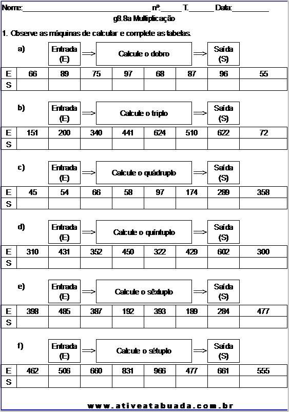 Atividade g8.8a Multiplicação