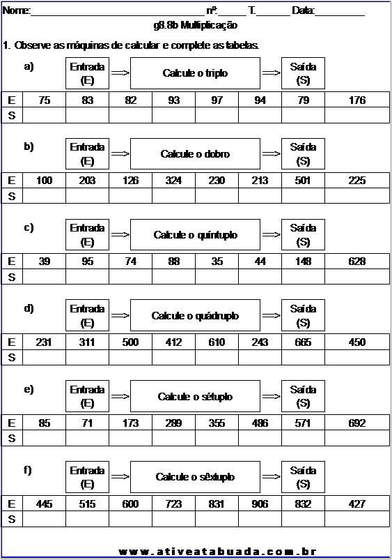 Atividade g8.8b Multiplicação