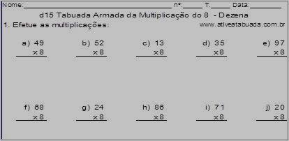 Conta Armada da Multiplicação